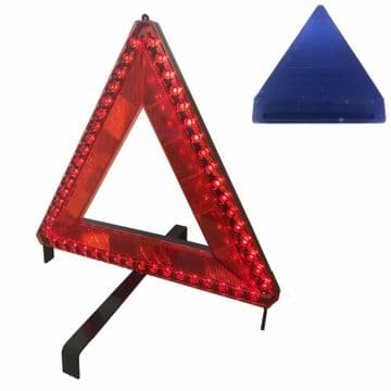 51 pcs LED FLASHING BREAKDOWN WARNING TRIANGLE with 12v 6 mtr CABLE or BATTERY